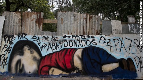 Artists around the world paid tribute to Kurdi in September 2015. This mural, appeared in Brazil.