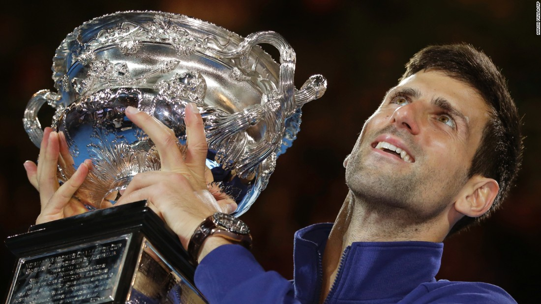 "Novak Djokovic holds up his trophy after he defeated Andy Murray <a href=""http://www.cnn.com/2016/01/31/tennis/australian-open-tennis-djokovic-murray/"" target=""_blank"">to win his sixth Australian Open title</a> on Sunday, January 31. The Serbian has now won 11 Grand Slam titles, tying him with Bjorn Borg and Rod Laver on the all-time list."