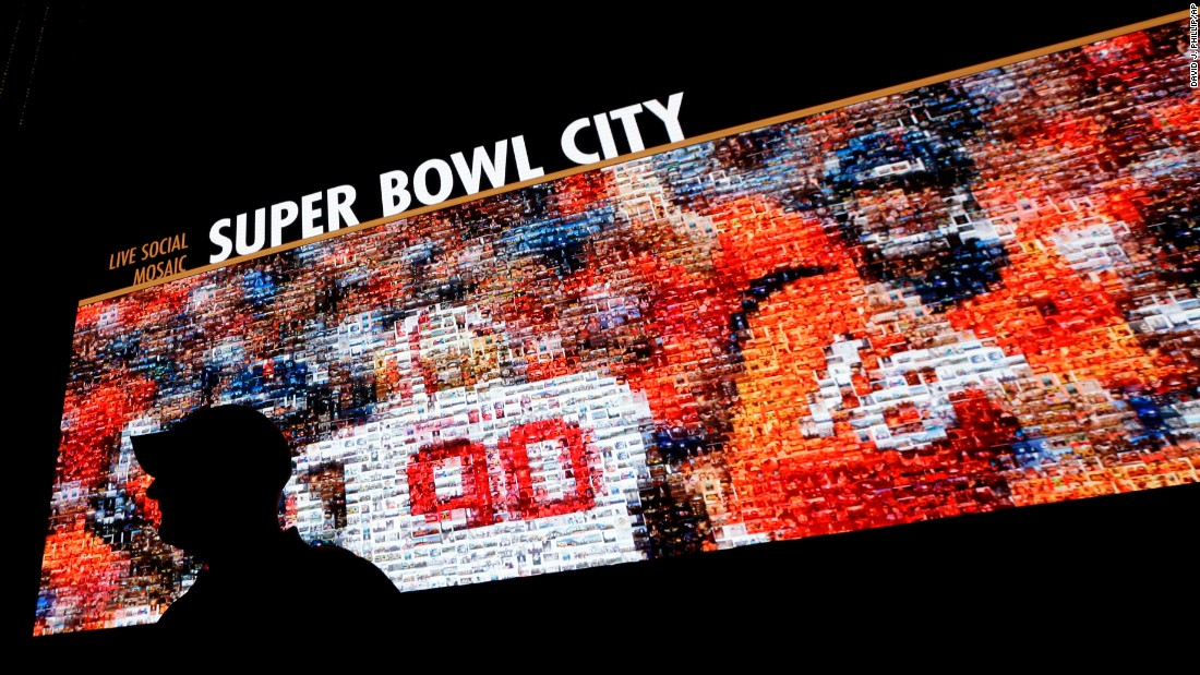 "Denver Broncos quarterback Peyton Manning is seen on a video board in San Francisco on Saturday, January 30. Super Bowl 50 will be played in nearby Santa Clara on February 7. <a href=""http://www.cnn.com/2016/01/26/sport/gallery/what-a-shot-sports-0126/index.html"" target=""_blank"">See 29 amazing sports photos from last week</a>"