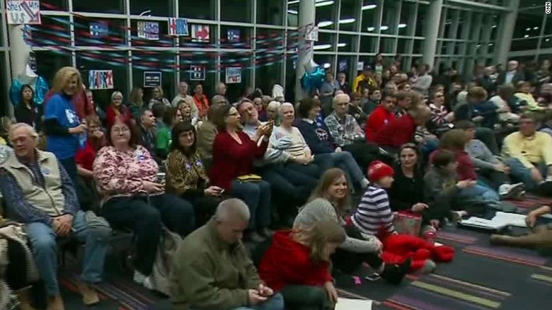 Voter turnout higher than expected at Iowa caucus site