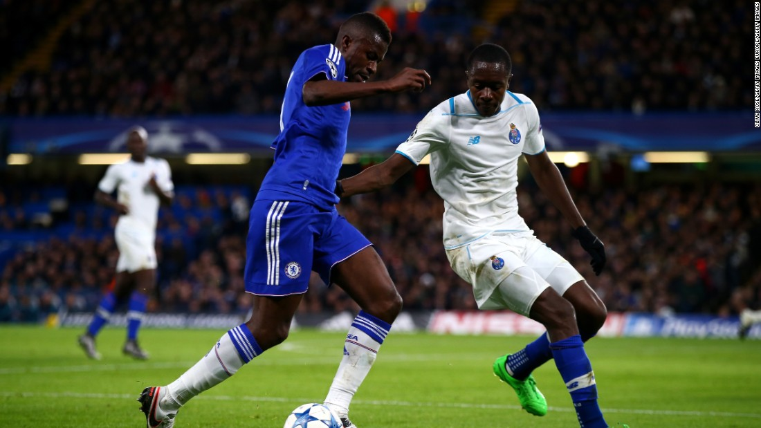 "Imbula, pictured vying with Ramires, became Stoke City's record signing -- joining the EPL team for $26.3m. The 23-year-old midfielder put pen to paper on a five-and-a-half year contract, having only joined Porto seven months ago from Marseille. ""I would say he is a Patrick Viera type ... a real driving force in there and perfect for the Premier League,"" said Stoke's Charlie Adam.<br />"
