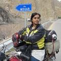 Pakistan motorcycle girl10Karakoram Highway to Khunjerab