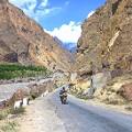 Pakistan motorcycle girl6Karakoram Highway in Skardu