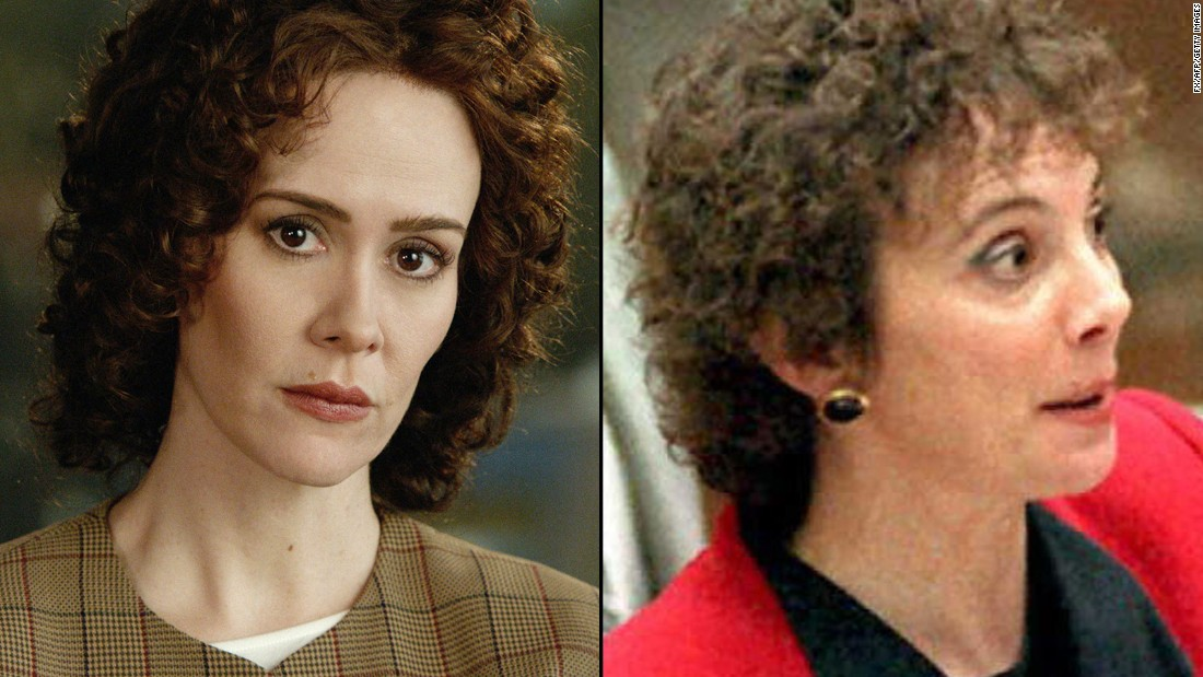 "<strong>Sarah Paulson</strong>, a regular on FX's ""American Horror Story,"" plays beleaguered prosecutor <strong>Marcia Clark</strong>."