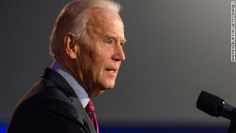 U.S. Vice President Joe Biden speaks at a rally for paid family leave on January 29, 2016 in New York City.