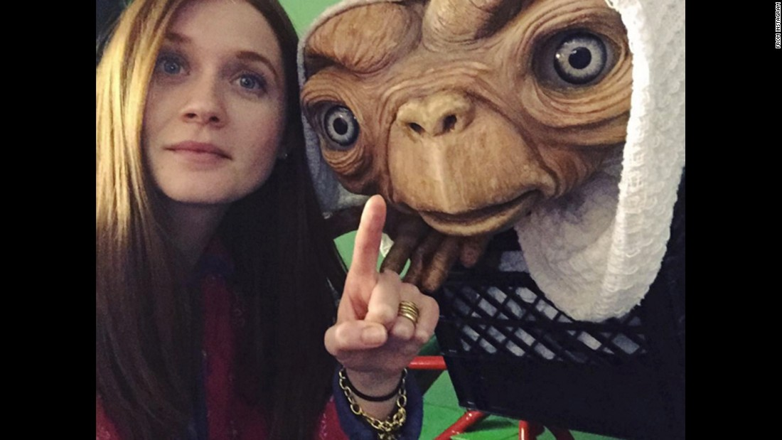 "Actress Bonnie Wright <a href=""https://www.instagram.com/p/BBOLd6kSMt6/"" target=""_blank"">takes a selfie at E.T. Adventure,</a> an amusement part ride at Universal Studios Florida, on Sunday, January 31."
