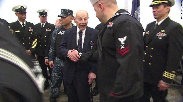 WWII veteran gets Purple Heart