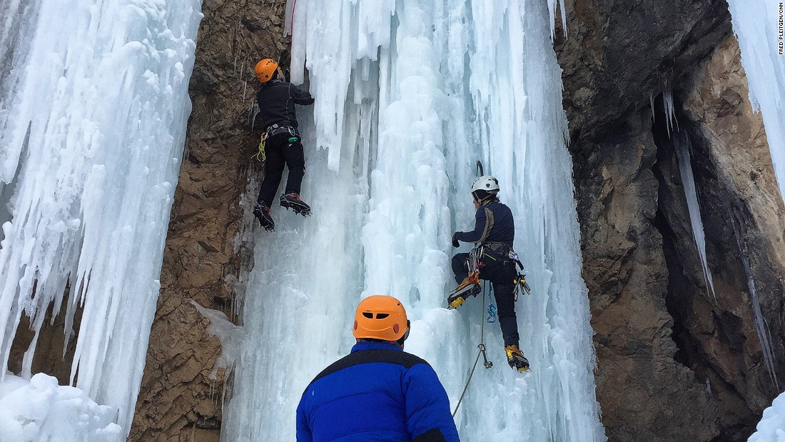 """Ice climbing is much more risky than rock climbing,"" says Sepideh Javan, one of Iran's best female ice climbers. ""The ice can come down anytime and fall on you, rocks are much more stable. But if you love the sport then it is really good."""