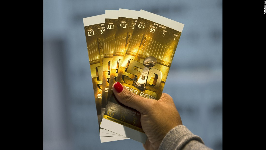 Tickets for Super Bowl 50.