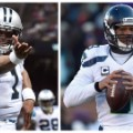 Cam Newton and Russell Wilson split