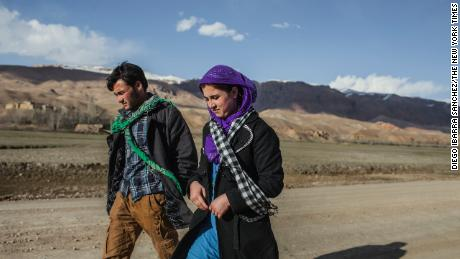 Ali and bride Zakia are shown in Afghanistan's Hindu Kush region in April 2014. Journalist Rod Nordland says their image is iconic for some Afghans.