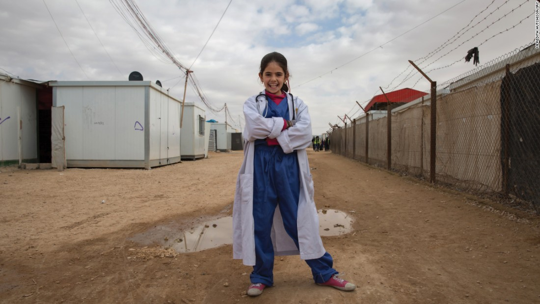 "Photographer Meredith Hutchison of the International Rescue Committee asked Syrian girls who are refugees in Jordan what they want to be when they grow up. Here's what they said and how they picture themselves in the future.<br /><strong><br />Rama, 13. Future job: Doctor</strong> -- ""Walking down the street as a young girl in Syria or Jordan, I encountered many people suffering -- sick or injured -- and I always wanted to have the power and skills to help them. Now as a great physician in my community, I have that ability. Easing someone's pain is the most rewarding aspect of my job.""<br />"
