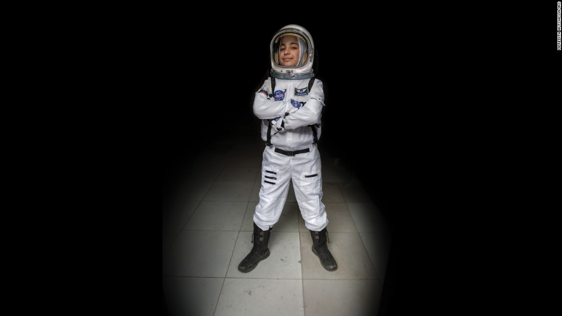 """Ever since we studied the solar system in primary school, I have wanted to be an astronaut. I would imagine myself up in the sky discovering new things. In this society my path was not easy -- many people told me a girl can't become an astronaut. Now I have achieved my goals. I would tell young girls with aspirations not to be afraid."""