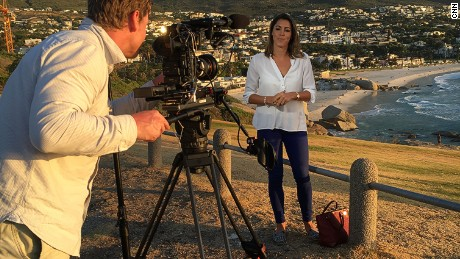 Aly Vance on location in Cape Town, South Africa for February's Winning Post show.