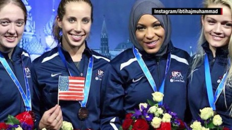 Ibtihaj Muhammad First U S Athlete To Compete In A Hijab
