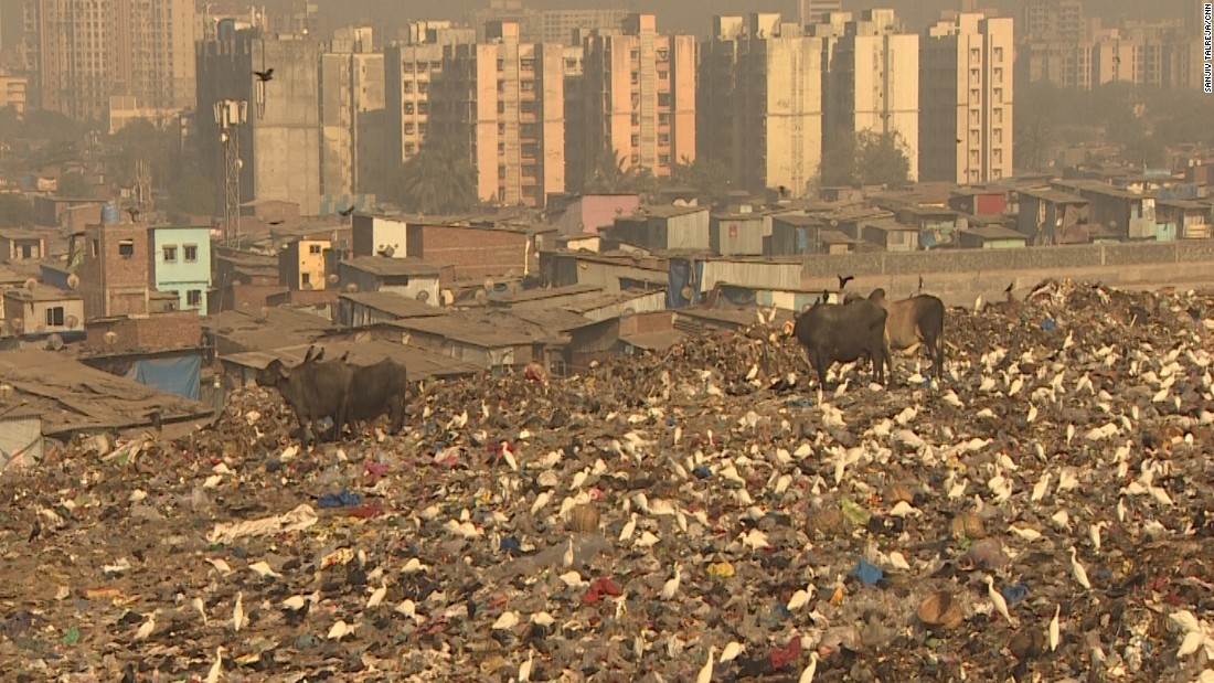 It stretches for 138 hectares and is the city's oldest trash dumping site.