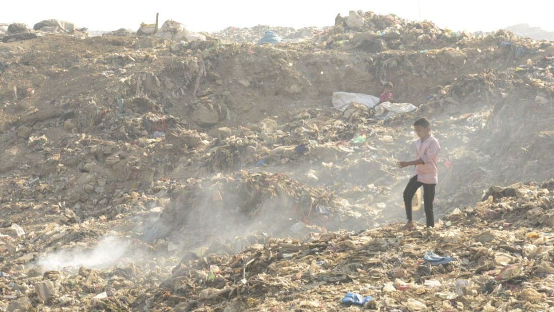The dump is home to thousands of scavengers, says one man who makes his living from the giant trash heap.