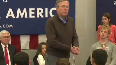 jeb bush audience please clap new hampshire sot_00002201