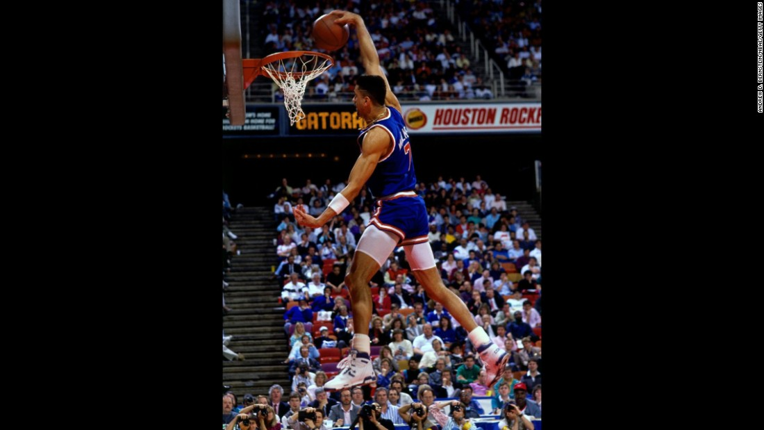 "Neither Jordan nor Wilkins competed in 1989, but Kenny ""Sky"" Walker was able to fill the void with some thunderous dunks, including a ""rock the cradle"" jam from the baseline. He held off a field that included Webb, a previous champion, and Drexler, a hometown favorite who played at the University of Houston. Walker almost didn't even compete; his father had died just a few days before the contest."