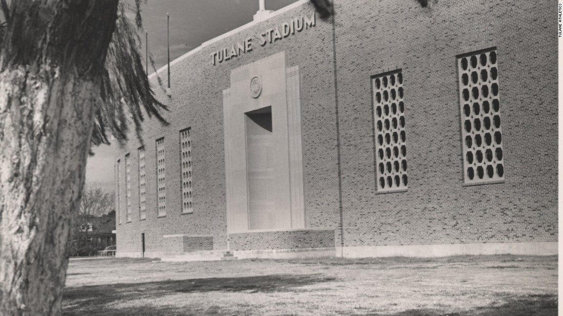 The original red brick front of Tulane Stadium withstood the city's harsh elements far better than the steel grandstands built as seating extensions in later years. The costly upkeep to prevent the steel's erosion eventually led to the decision to tear the stadium down.