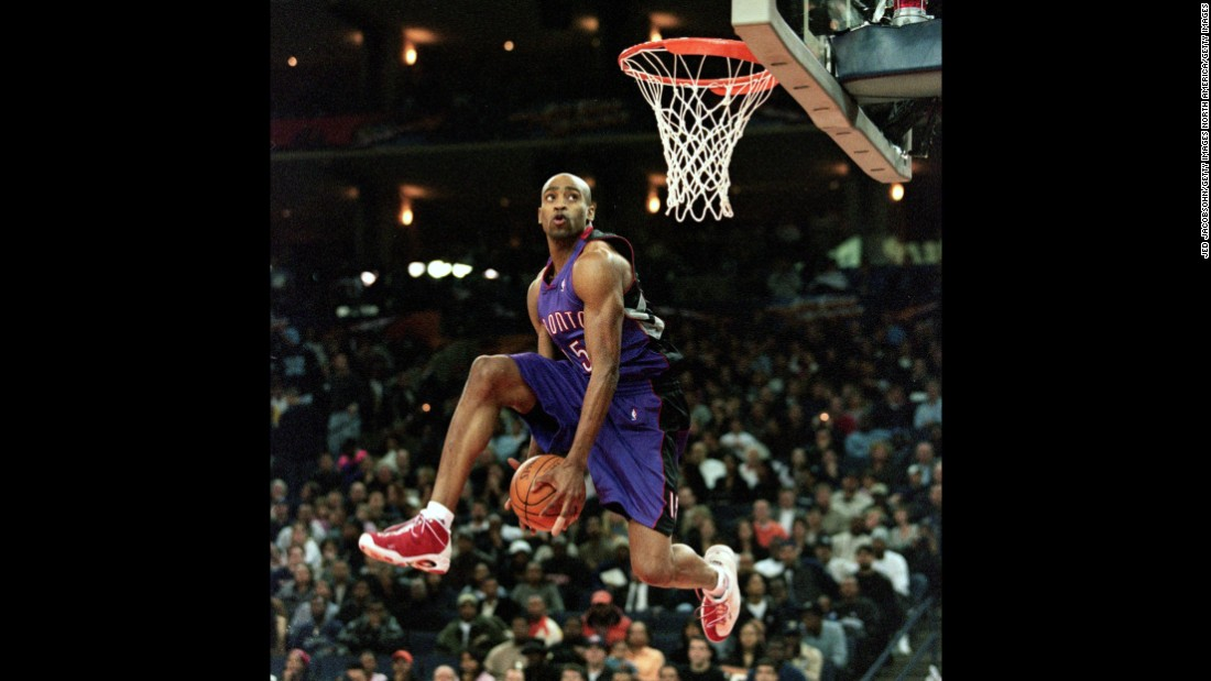 "The NBA scrapped the dunk contest for the 1998 season, feeling it had lost a bit of its luster and star power. And in 1999, a lockout meant there was no All-Star Weekend at all. But both returned in 2000, when Vince Carter put on what many think was the greatest single performance in slam dunk history. The high-flying Raptor did a little bit of everything. He started with a reverse 360 windmill. He went between the legs after catching an alley-oop pass. He even stuck half his arm inside the hoop, dangling from his elbow a few seconds after a dunk. ""Michael Jackson is my favorite artist of all time, and it was like the closest thing to a Michael Jackson concert to me on a basketball level,"" Allen Iverson told Jason Buckland, <a href=""http://espn.go.com/nba/story/_/page/dunk-2000/oral-history-2000-nba-slam-dunk-contest"" target=""_blank"">who wrote an oral history</a> about the Carter performance for ESPN. ""I don't think a dunk contest will ever be duplicated in that fashion ever again."""