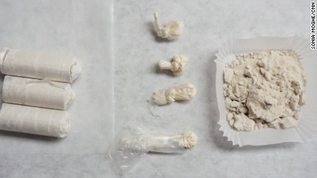 Heroin seized from New Hampshire streets are tested for purity.