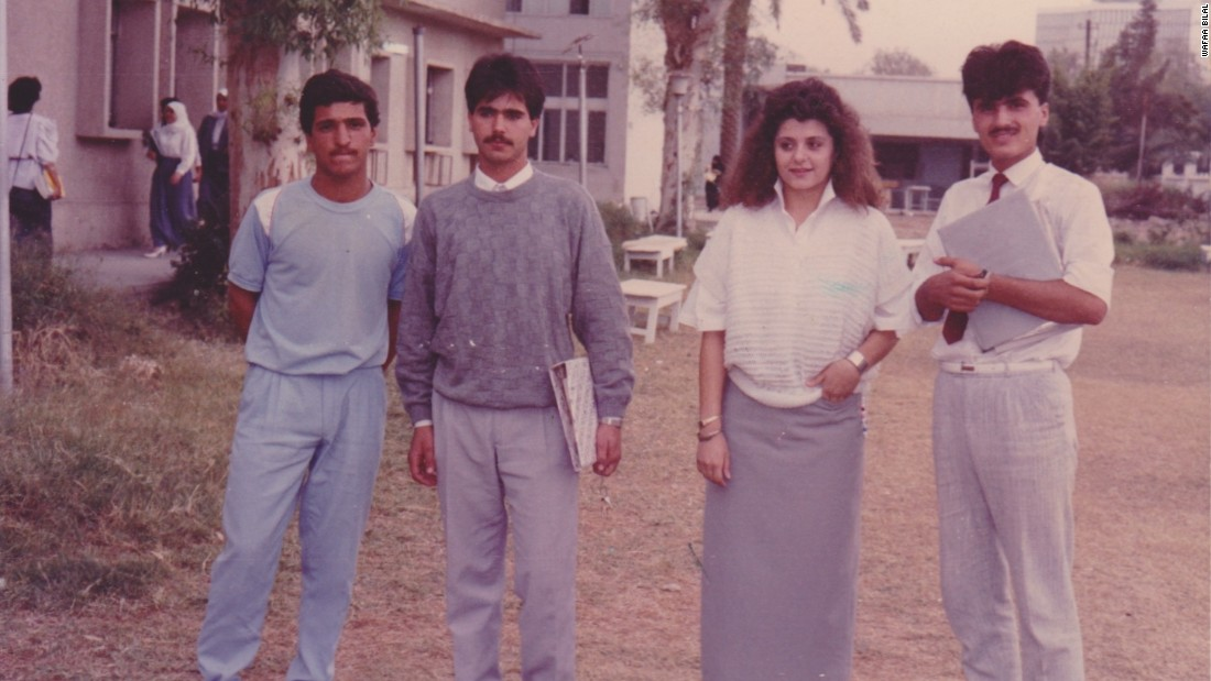 Bilal (second left) spent a large portion of his student life in the library. During his days as a student, the library was home to thousands of books.