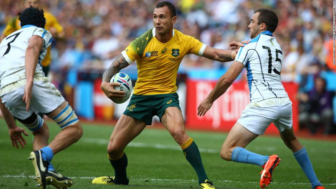 He joined Toulon in November after the 2015 Rugby World Cup, where he played his 58th and potentially final 15-a-side international for the Wallabies in the group game against Uruguay.
