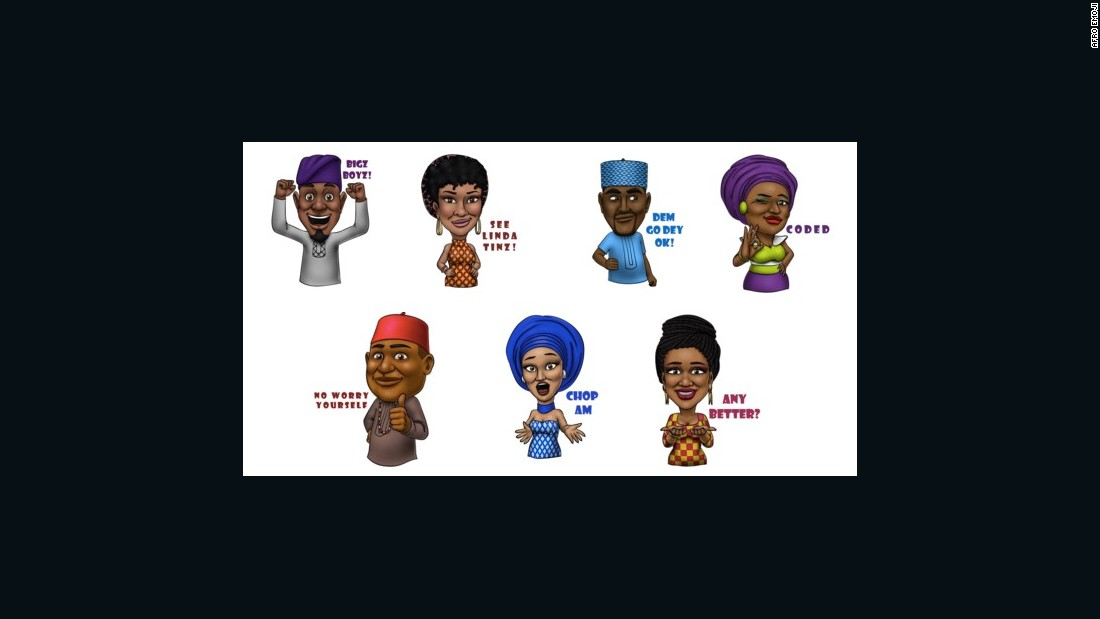 Daramola says there has been a lot of digital sticker and emoji diversification around the world, most notably in Asia, so it's time for an Africa-centric set of characters.