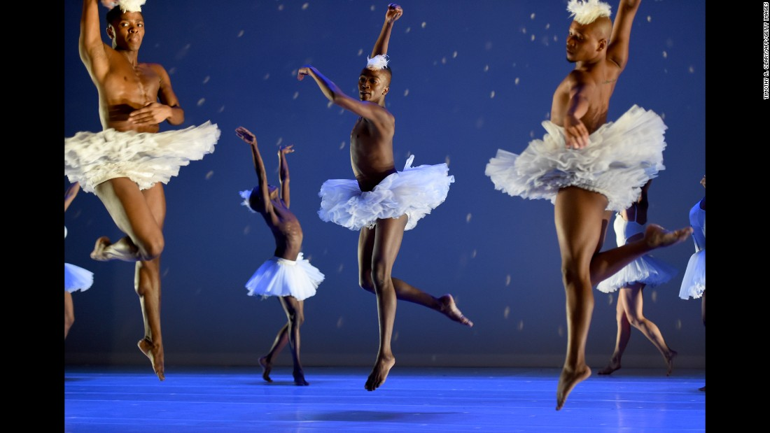 "Dancers take part in a dress rehearsal of ""Swan Lake"" before it opened at the Joyce Theater in New York on Tuesday, February 2."