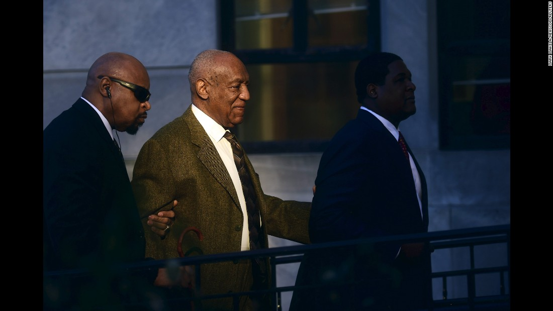 "Comedian Bill Cosby, center, arrives for a preliminary hearing in Norristown, Pennsylvania, on Tuesday, February 2. <a href=""http://www.cnn.com/2016/02/03/us/bill-cosby-andrea-constand-sex-assault-charges/"" target=""_blank"">A judge ruled</a> that the sexual assault case against Cosby will go forward. He was charged in December."
