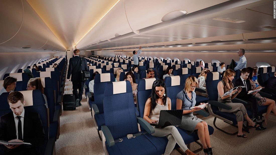 Rosavia engineers say its elliptic shape is a particularly efficient solution for seating more than 350 passengers in a three-aisle configuration, while keeping weight and dimensions below those of wide-body aircraft of similar capacity.