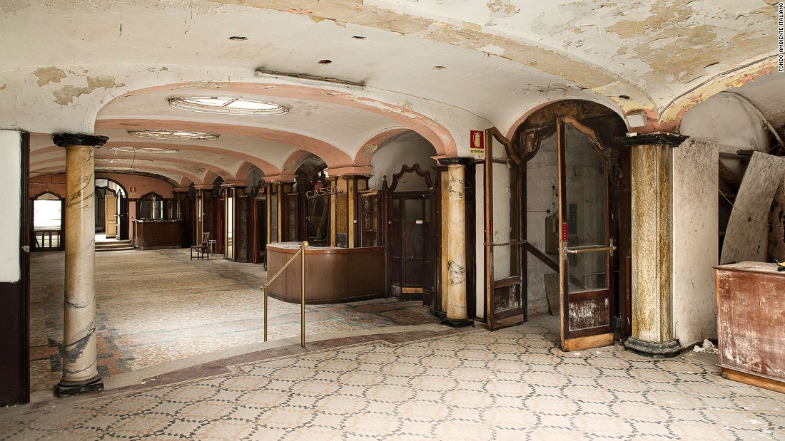 Built a century ago, the Albergo gradually fell out of use over the years as it was outpaced by modern sanitation standards. It's still there, though, hidden behind a rusted door in a Milan metro station.