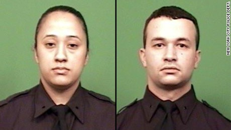 NYPD Officers Shot Diara Cruz, left, and Partrick Espeut were shot and wounded Friday.