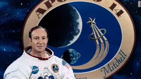 Edgar Mitchell in his official Apollo 14 portrait.