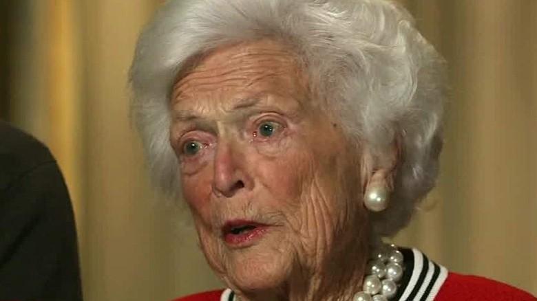 Barbara Bush: I'm sick of Donald Trump