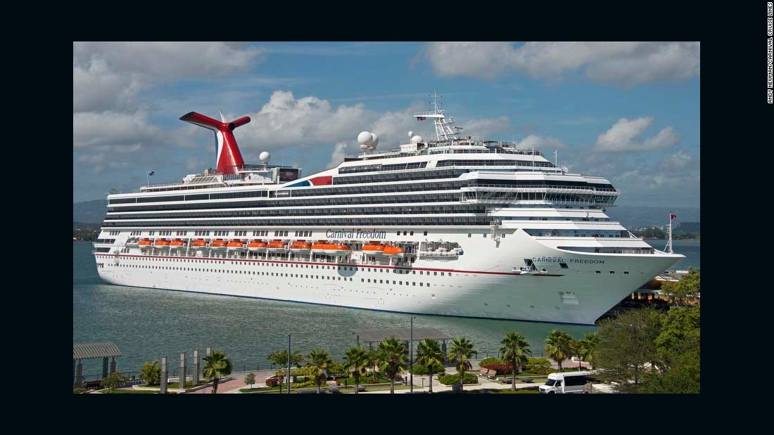 "The Carnival Freedom won the ""best value"" award in the large ship category."