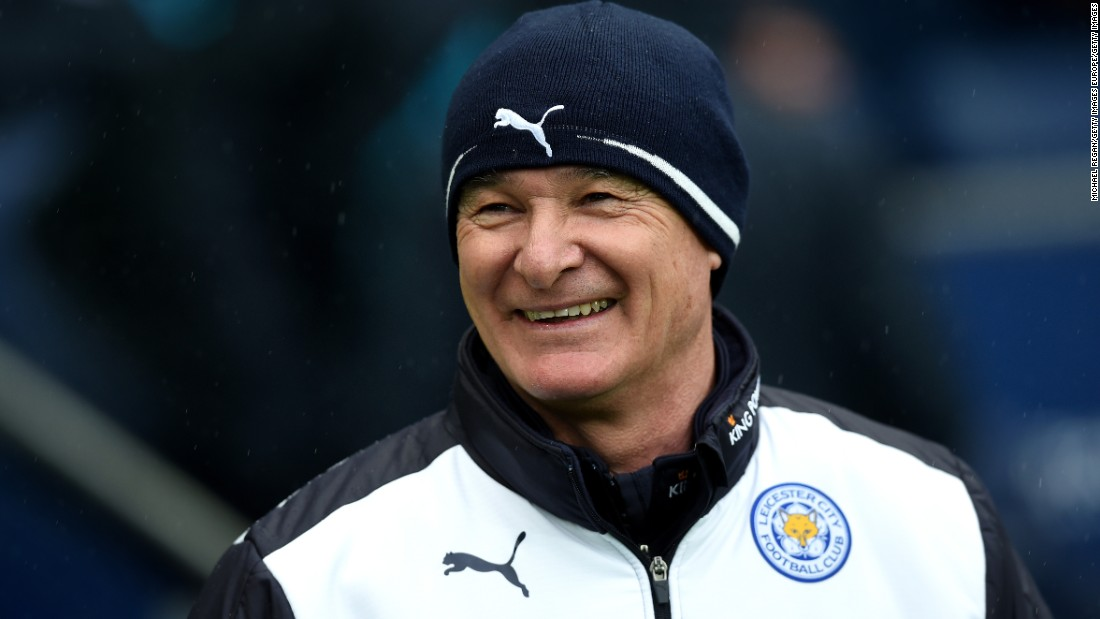 Manager Claudio Ranieri of Leicester City is all smiles prior to the Premier League match between Manchester City and Leicester City at the Etihad Stadium on February 6, 2016 in Manchester, England.
