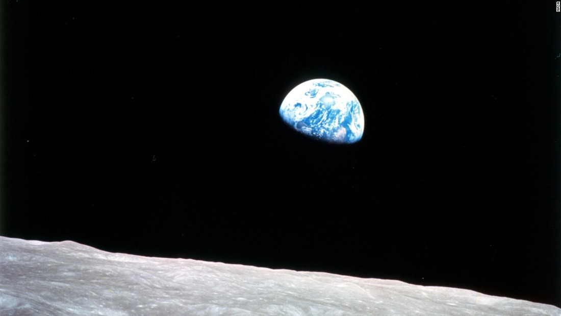 """On Apollo 8, William Anders took this photograph of the earth called 'Earthrise,' and it changed people's outlook. <br /><br />""Instead of thinking they were going to live in the cosmos, they stop and think that is the blue planet. It's fragile, it's vulnerable. We've got to look after it, we're all in this together. You get this oneness. So that has been called the most important photograph of the 20th century."""