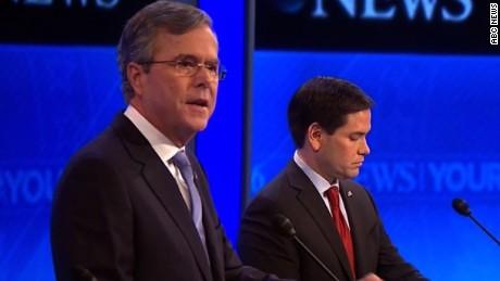 Bush jabs Rubio over leadership experience