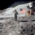 David Scott walks on the moon