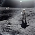 Charles Duke walks on the moon