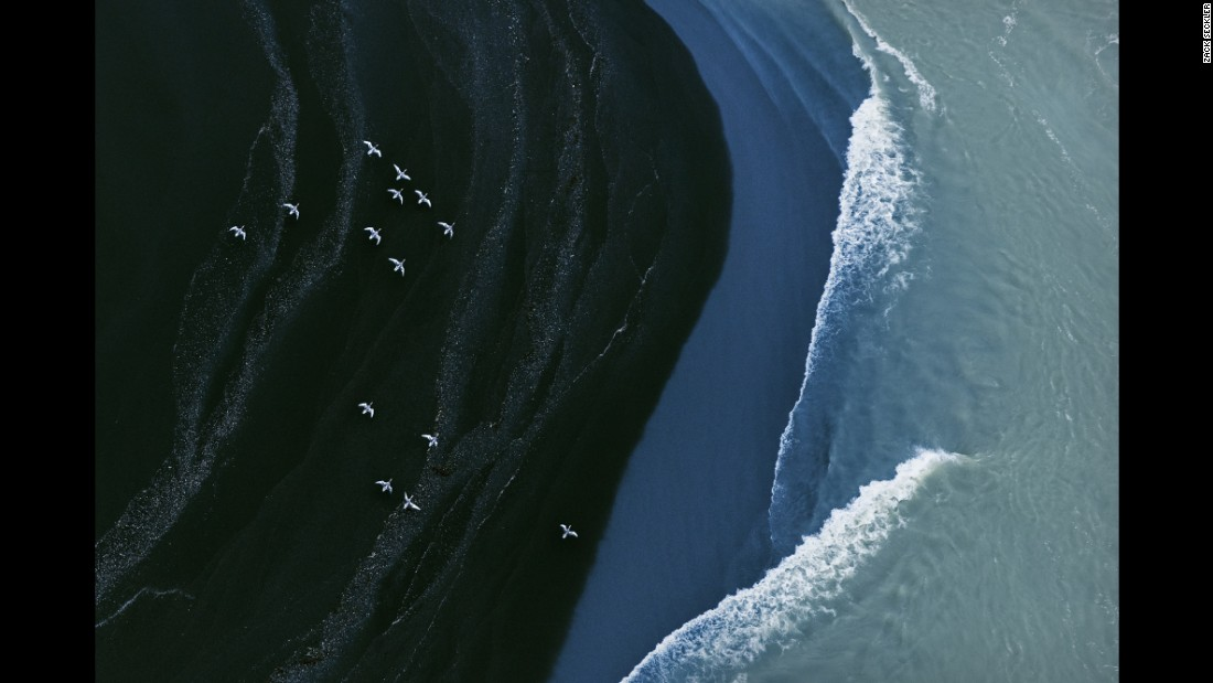 Zack Seckler's aerial photos of Iceland were taken aboard an ultra-light aircraft in November.
