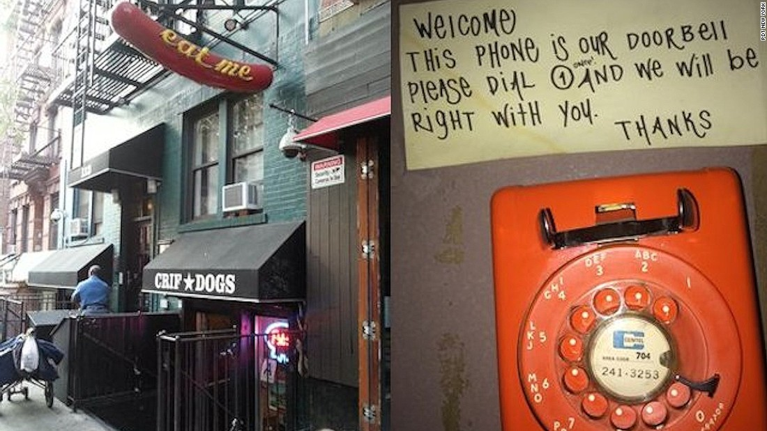 An acronym for Please Don't Tell, this East Village legend is accessed via a phone booth in a hot dog joint called Crif Dogs.
