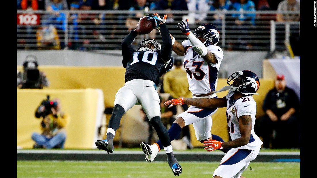 Panthers wide receiver Corey Brown makes a 42-yard catch in the third quarter.