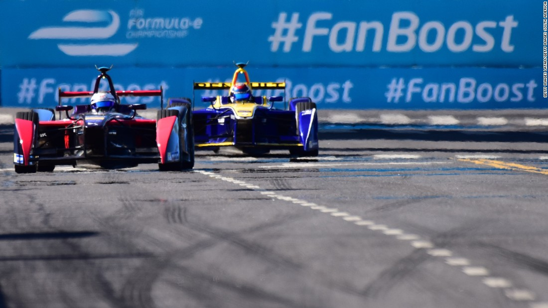 "As far as the Formula E title chase goes, Sam Bird of DS Virgin Racing (front) <a href=""http://edition.cnn.com/2016/02/06/motorsport/formula-e-buenos-aires-bird-buemi/index.html"">won round four in Buenos Aires</a> but Sebastien Buemi of Renault e.Dams (behind) still leads the drivers' championship. ""Anybody can still win the title at this stage that is for sure,"" predicts Duran."