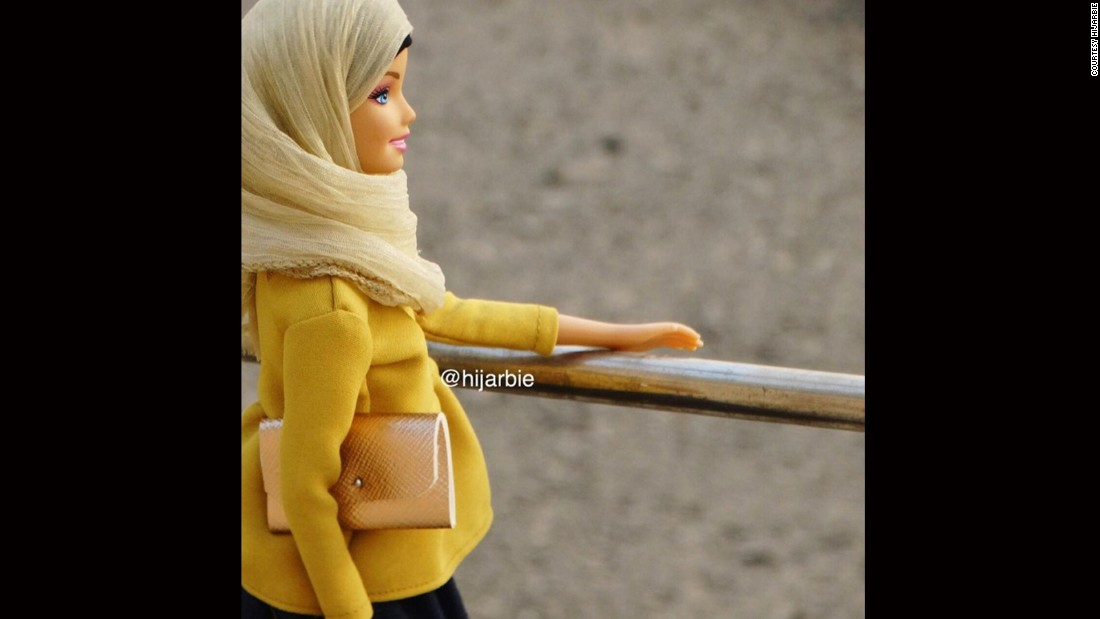 "After seeing the <a href=""https://www.instagram.com/barbiestyle/"" target=""_blank"">Barbie Style Instagram account</a>, Adam started dressing her dolls modestly in colourful headscarves, robe-like dresses called abayas, peplum blouses and flowing maxi-skirts."