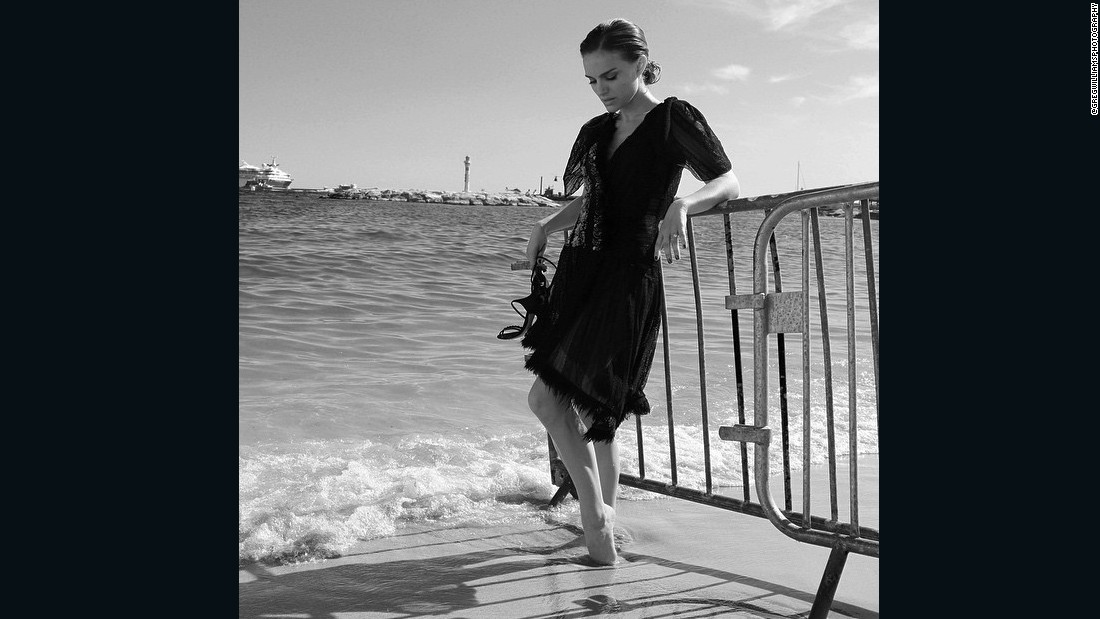 "<a href=""https://www.instagram.com/p/2yjJW3G5Pg/?taken-by=gregwilliamsphotography"" target=""_blank"">Natalie Portman </a>takes a moment at the end of her press day in Cannes for her film <em>A Tale of Love and Darkness</em> written, directed and starred in by Portman."