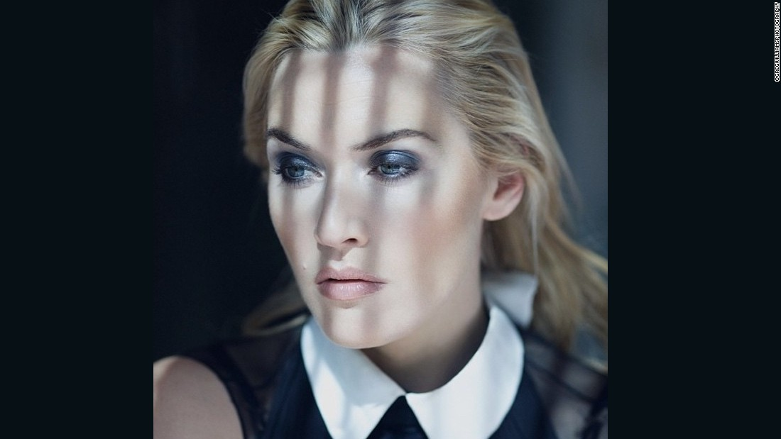 This picture of Kate Winslet was taken during a cover shoot for french newspaper Le Figaro's magazine in a glass steel and concrete house overlooking Highgate Cemetary in North London.