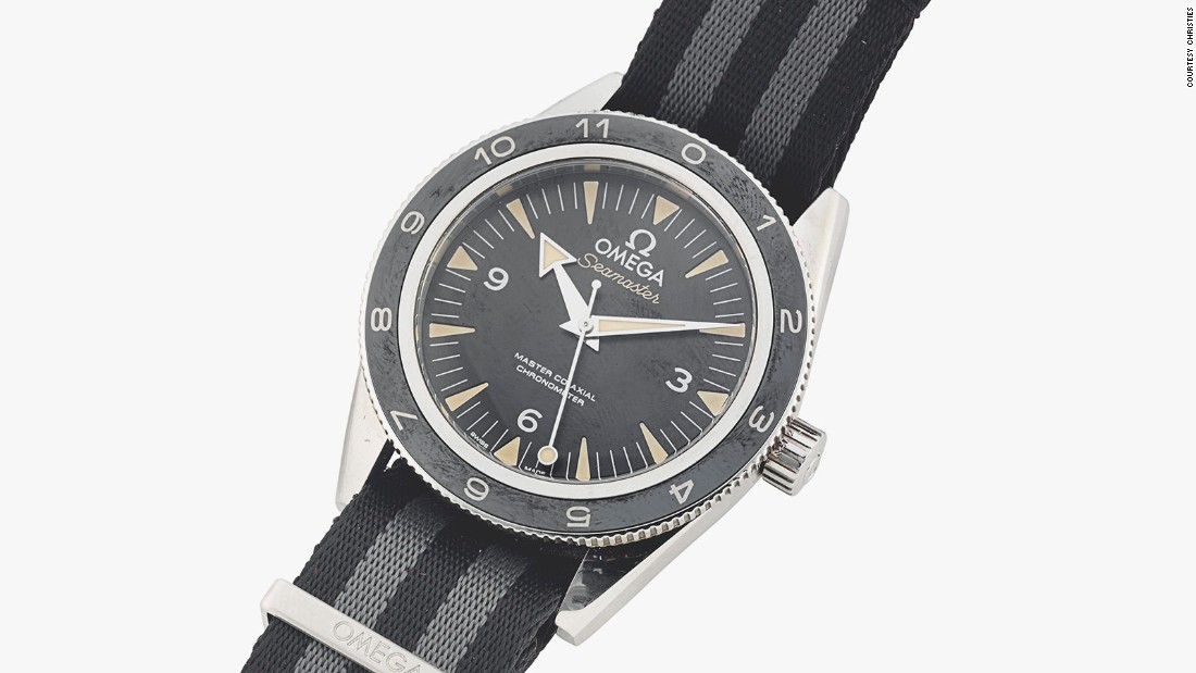 In the film, Bond's watch of choice is an Omega Seamaster 300. It was expected to sell for $29,000, but realized $131,800.